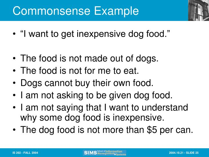 Commonsense Example