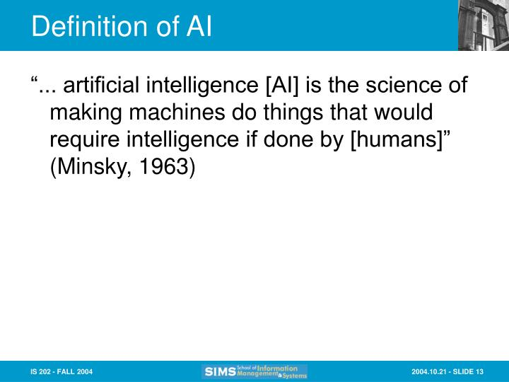 Definition of AI