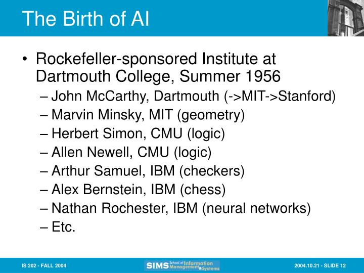 The Birth of AI