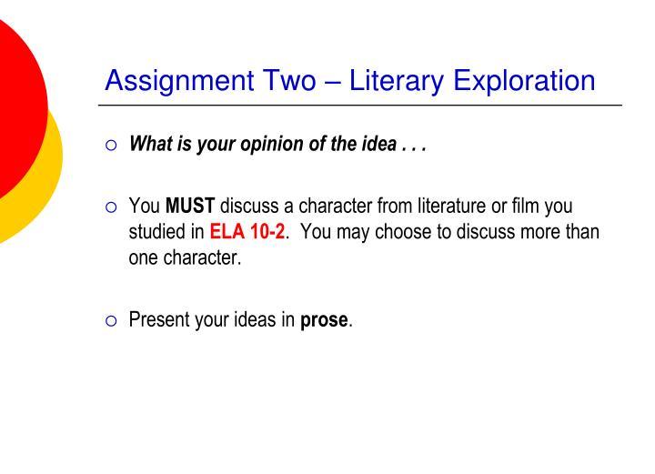 Literary exploration essay