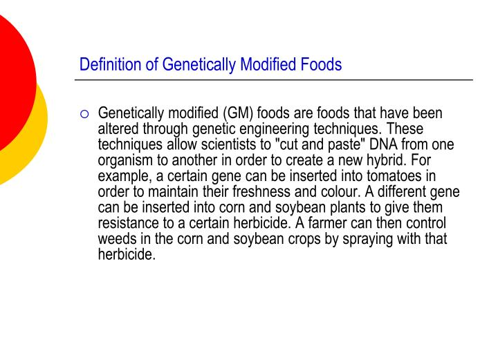 essay about genetic modification