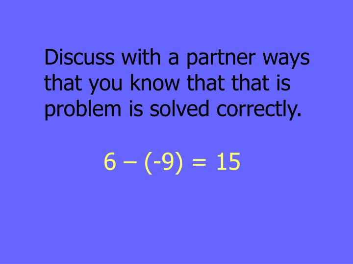 Discuss with a partner ways