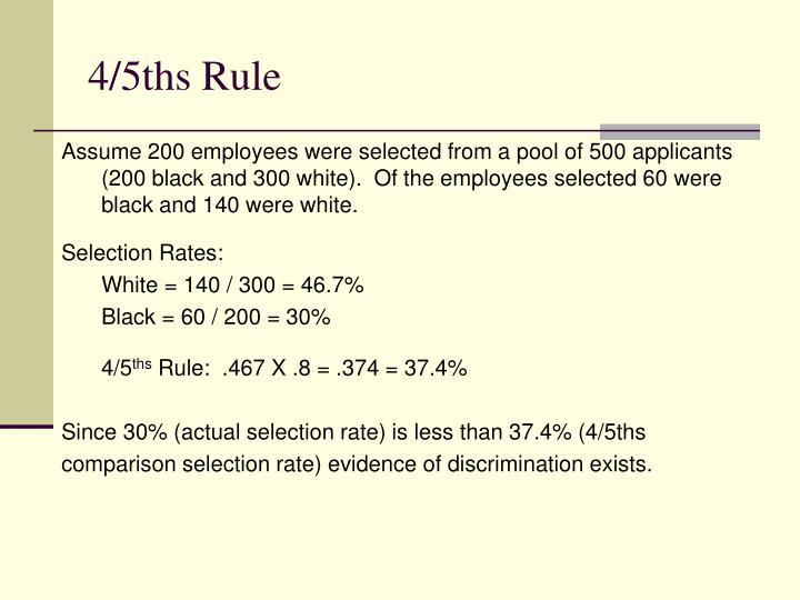 4/5ths Rule