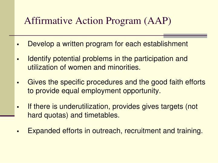 Affirmative Action Program (AAP)
