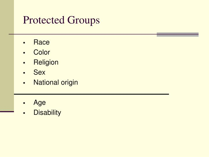 Protected Groups