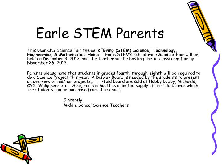 Earle stem parents