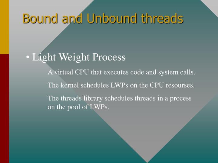 Bound and Unbound threads