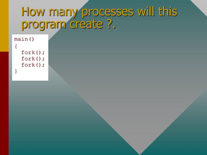 How many processes will this program create ?.