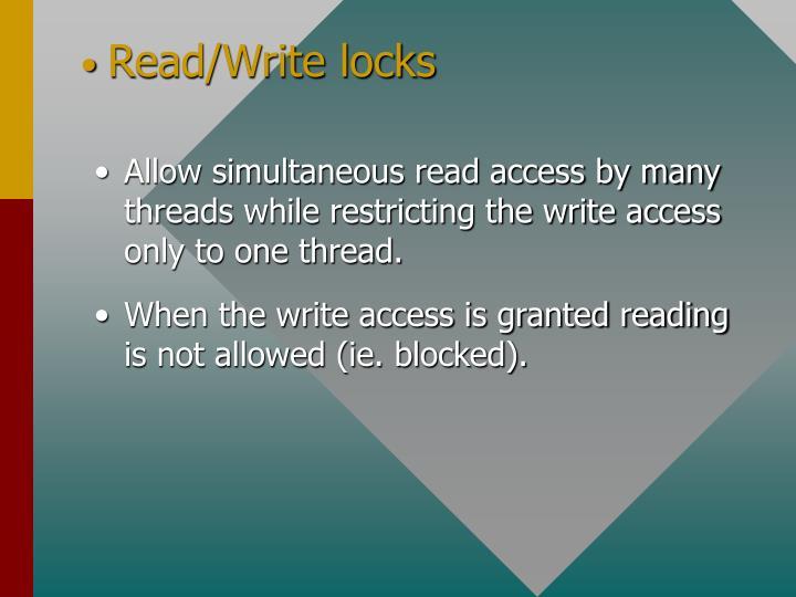 Read/Write locks