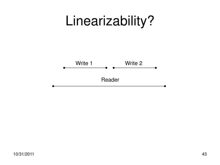 Linearizability?