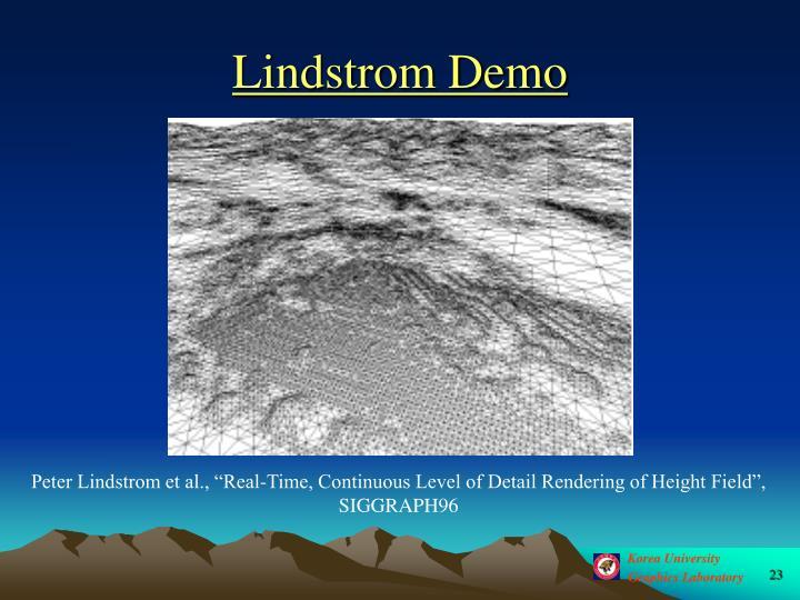 Lindstrom Demo