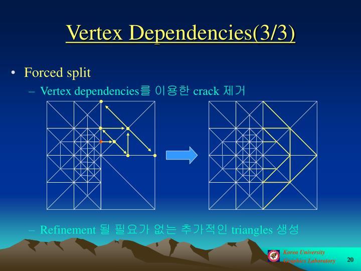 Vertex Dependencies(3/3)