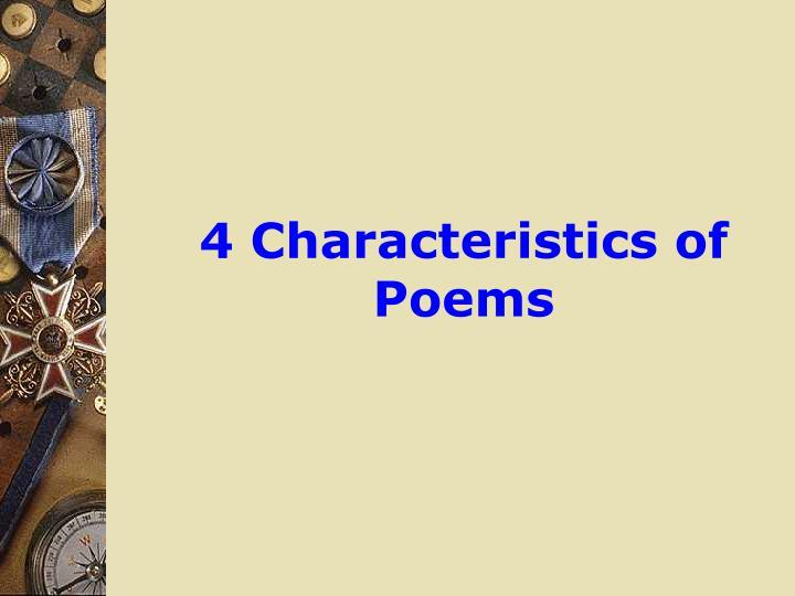 4 Characteristics of Poems