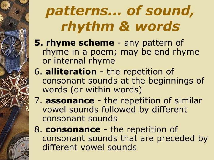 patterns... of sound, rhythm & words