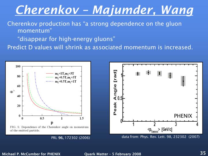 Cherenkov – Majumder, Wang