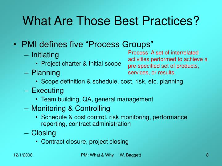 What Are Those Best Practices?