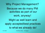 why project management2