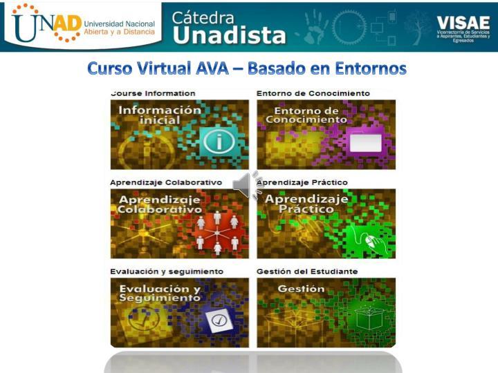 Curso Virtual AVA – Basado en Entornos