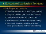 4 educational leadership positions