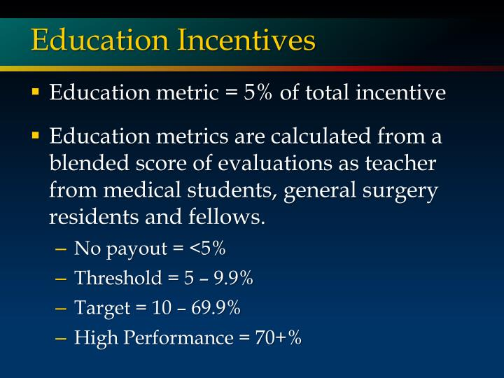 Education Incentives