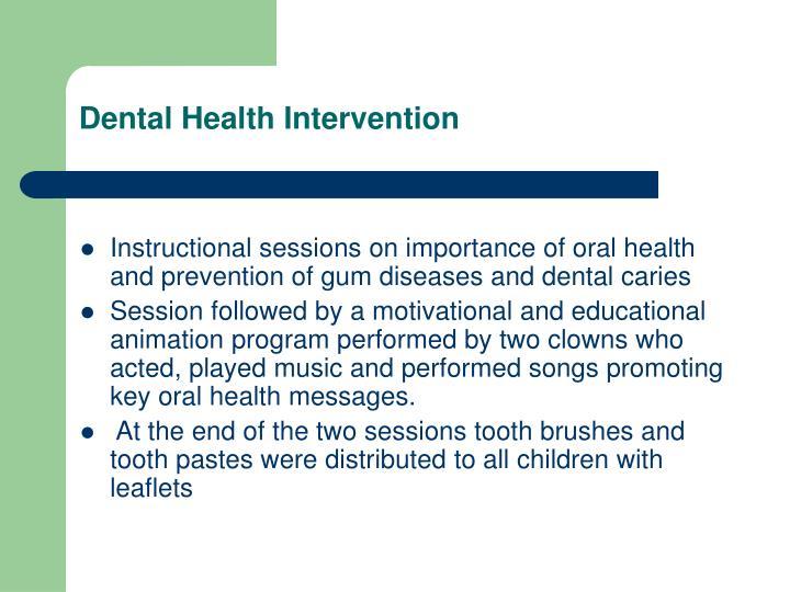 Dental Health Intervention