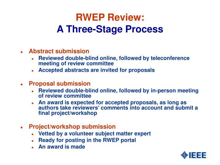 RWEP Review:
