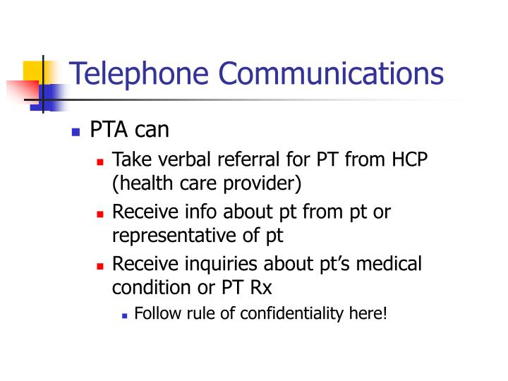 Telephone Communications