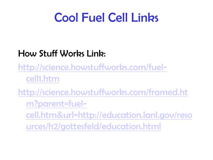 Cool Fuel Cell Links