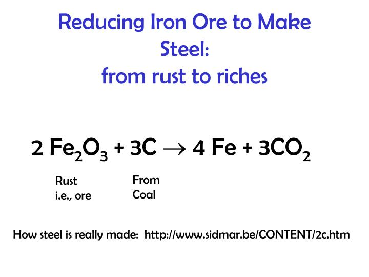 Reducing Iron Ore to Make Steel: