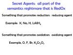 secret agents all part of the semantics nightmare that is redox