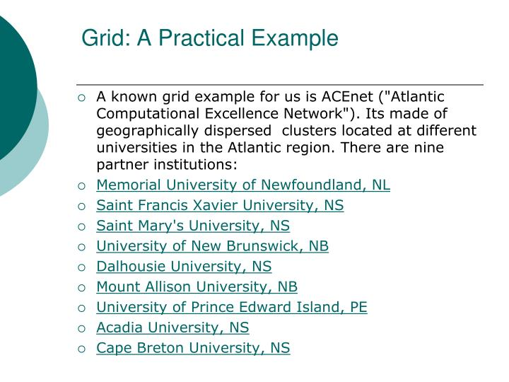 Grid: A Practical Example