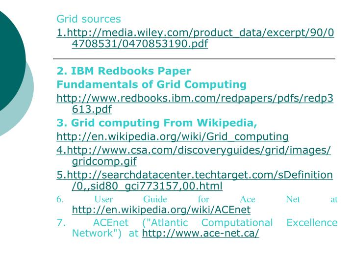 Grid sources