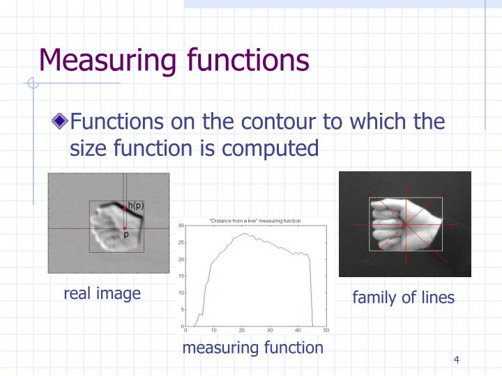 Measuring functions