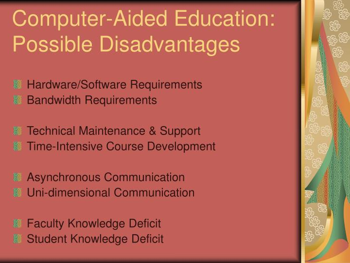 Computer-Aided Education:
