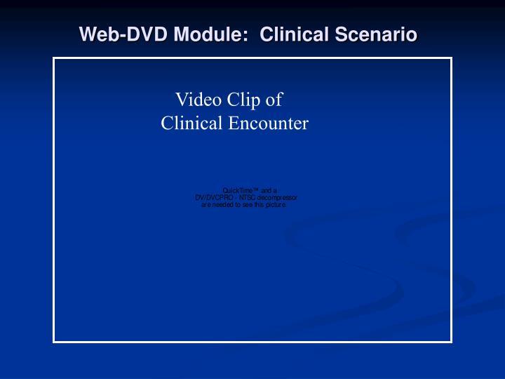Web-DVD Module:  Clinical Scenario