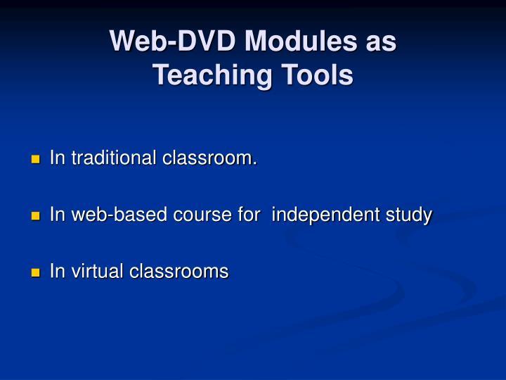Web-DVD Modules as