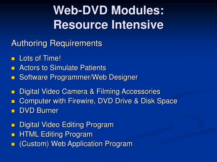 Web-DVD Modules: