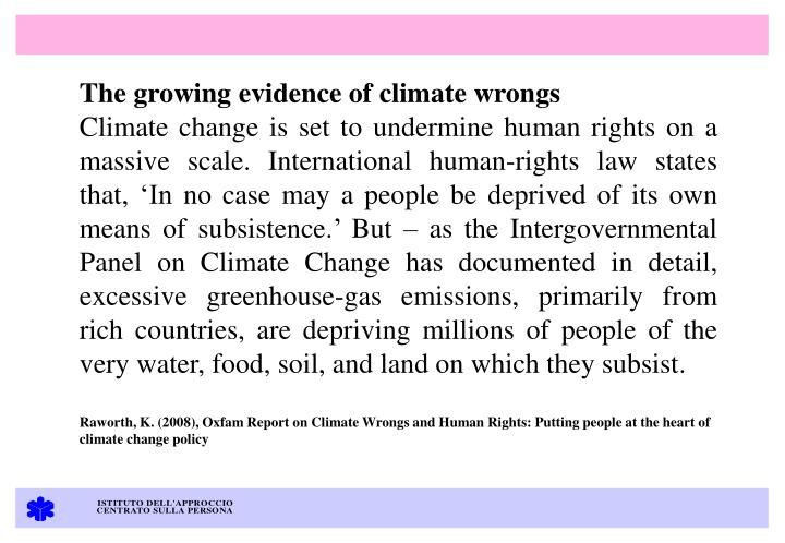 The growing evidence of climate wrongs