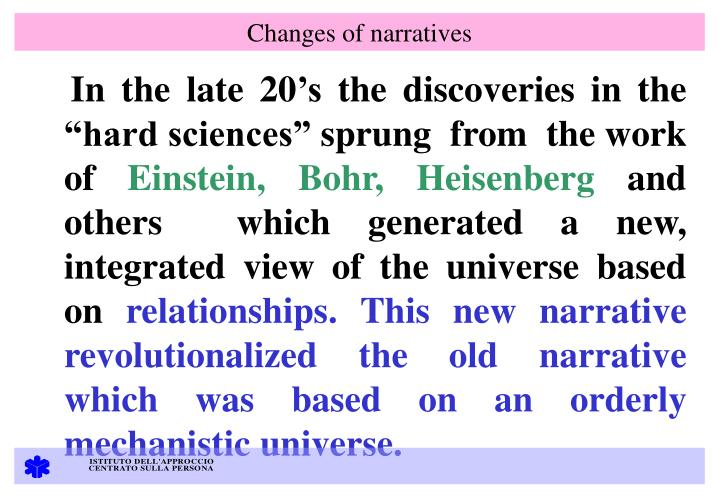 Changes of narratives