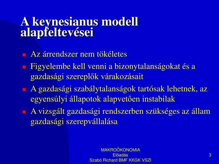 A keynesianus modell alapfeltevései