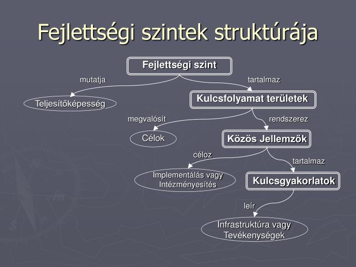 Fejlettségi szintek struktúrája