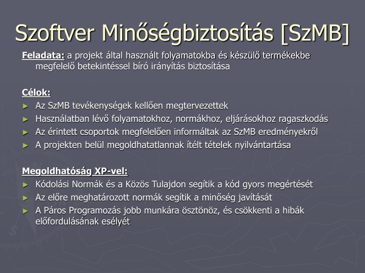 Szoftver Minőségbiztosítás [SzMB]