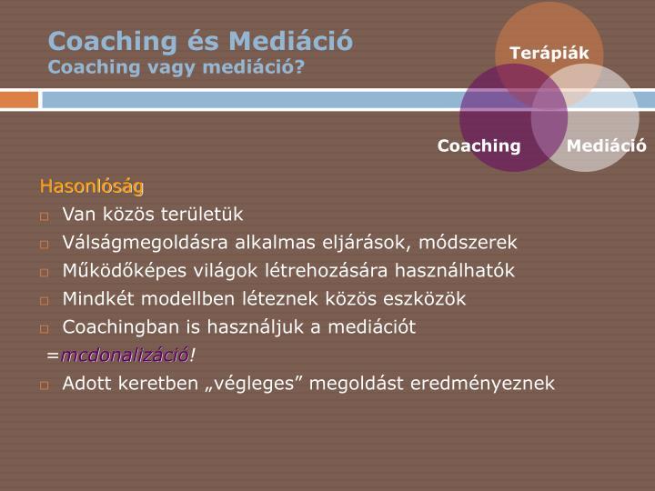 Coaching és Mediáció