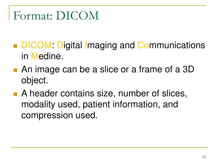 Format: DICOM