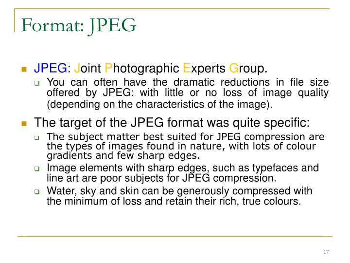 Format: JPEG