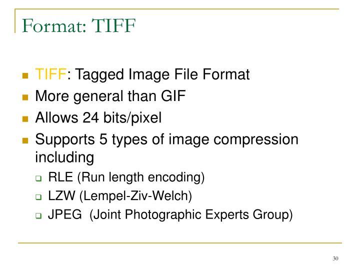 Format: TIFF