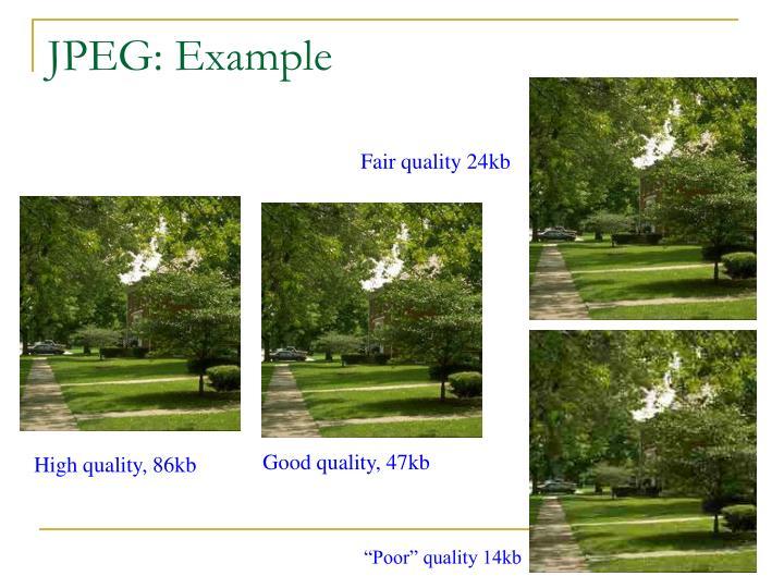 JPEG: Example