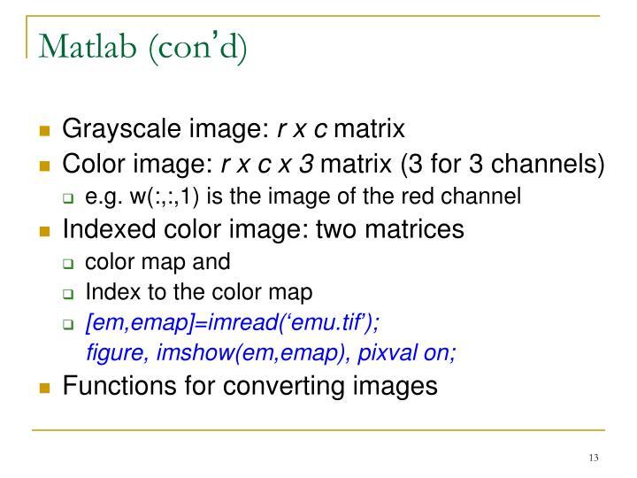 Matlab (con