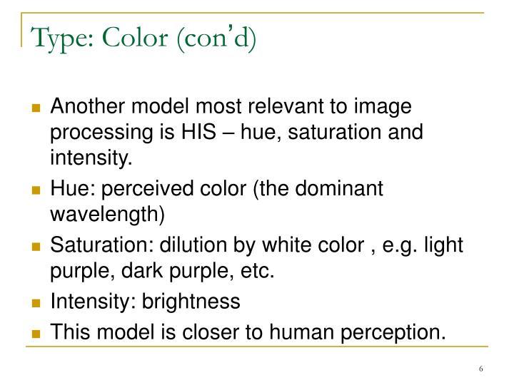 Type: Color (con