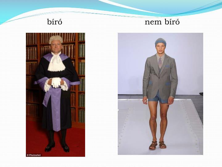 bíró                                nem bíró